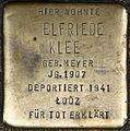 Stolpersteine Köln, Elfriede Klee (Weyerstraße 122).jpg