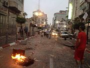 Street in Ramallah after IDF raid during Operation Brother's Keeper June 2014 2