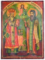 Sts. Cyril and Methodius Bulgarian Enlighteners Icon by Avram Dichov, 1892.jpg