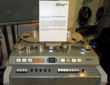A colour image of a grey recording machine