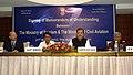 Subodh Kant Sahai, the Union Minister for Civil Aviation, Shri Ajit Singh, the Secretary, Civil Aviation, Dr. Nasim Zaidi and the Secretary, Ministry of Tourism.jpg