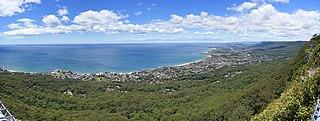 Illawarra escarpment mountain range in New South Wales, Australia