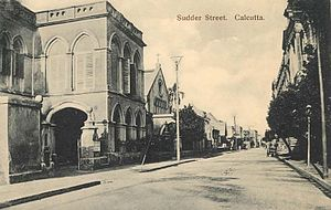Sudder Street - Sudder Street in the late 19th or early 20th century.