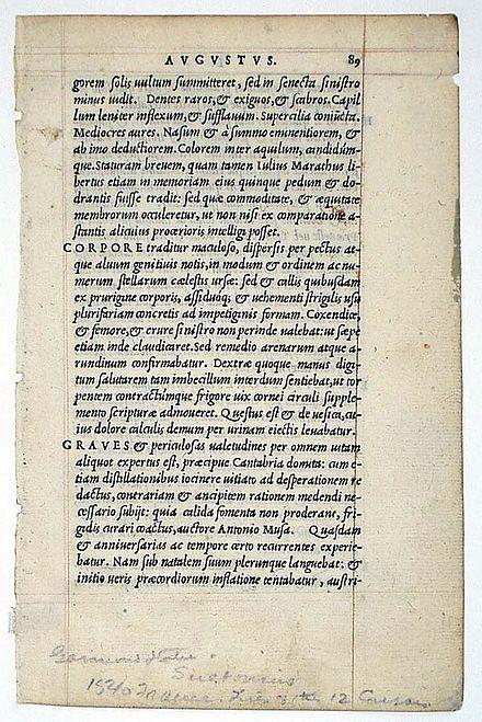 Suetonius, Lives of the Twelve Caesars