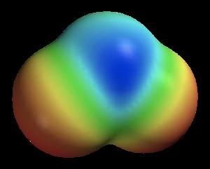 Space-filling model - Image: Sulfur dioxide elpot