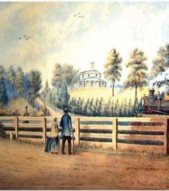 Colborne Lodge - Painting of Colborne Lodge, 1865