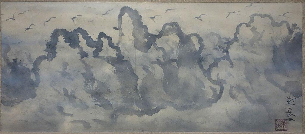 datei sunset landscape with birds by kagaku murakami 1935 sumi on paper national museum of modern art tokyo dsc06670 jpg