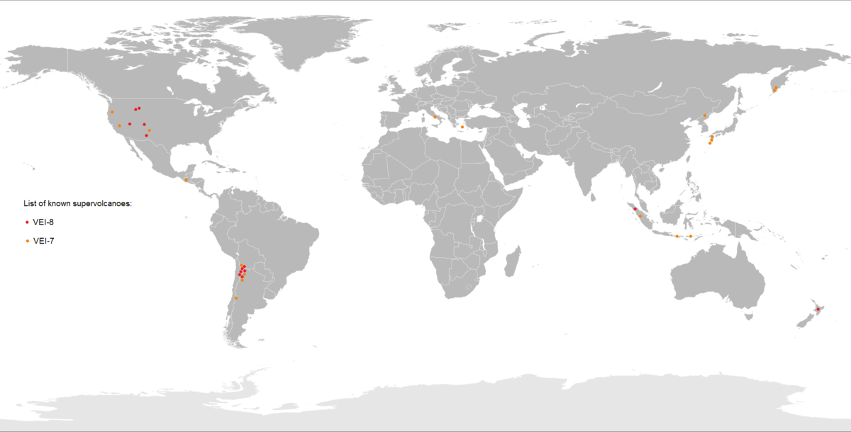Supervolcano Wikipedia - Calderas in the us map