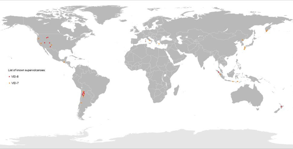 Supervolcano World Map
