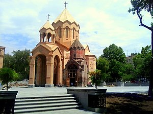 Katoghike Church, Yerevan - The new complex of Saint Anna Church in August 2014