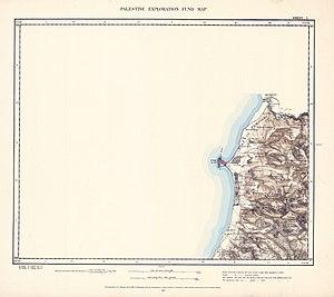 Aabbassiyeh - Image: Survey of Western Palestine 1880.01