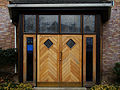 Sutton, Surrey - Greater London - Holy Family Catholic Church door.jpg