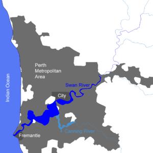 Karte des Unterlaufs