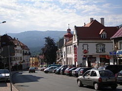 Town centre in July 2007
