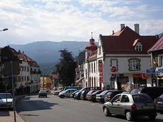 Szklarska Poręba Place in Lower Silesian, Poland