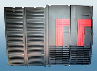 Cray T3E - T3E-900 AC with two disk cabinets on left