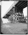 TIMBER PILINGS, EAST APPROACH - Krotz Springs Bridge, Spanning Atchafalaya River, Krotz Springs, St. Landry Parish, LA HAER LA,49-KROSP,1-19.tif