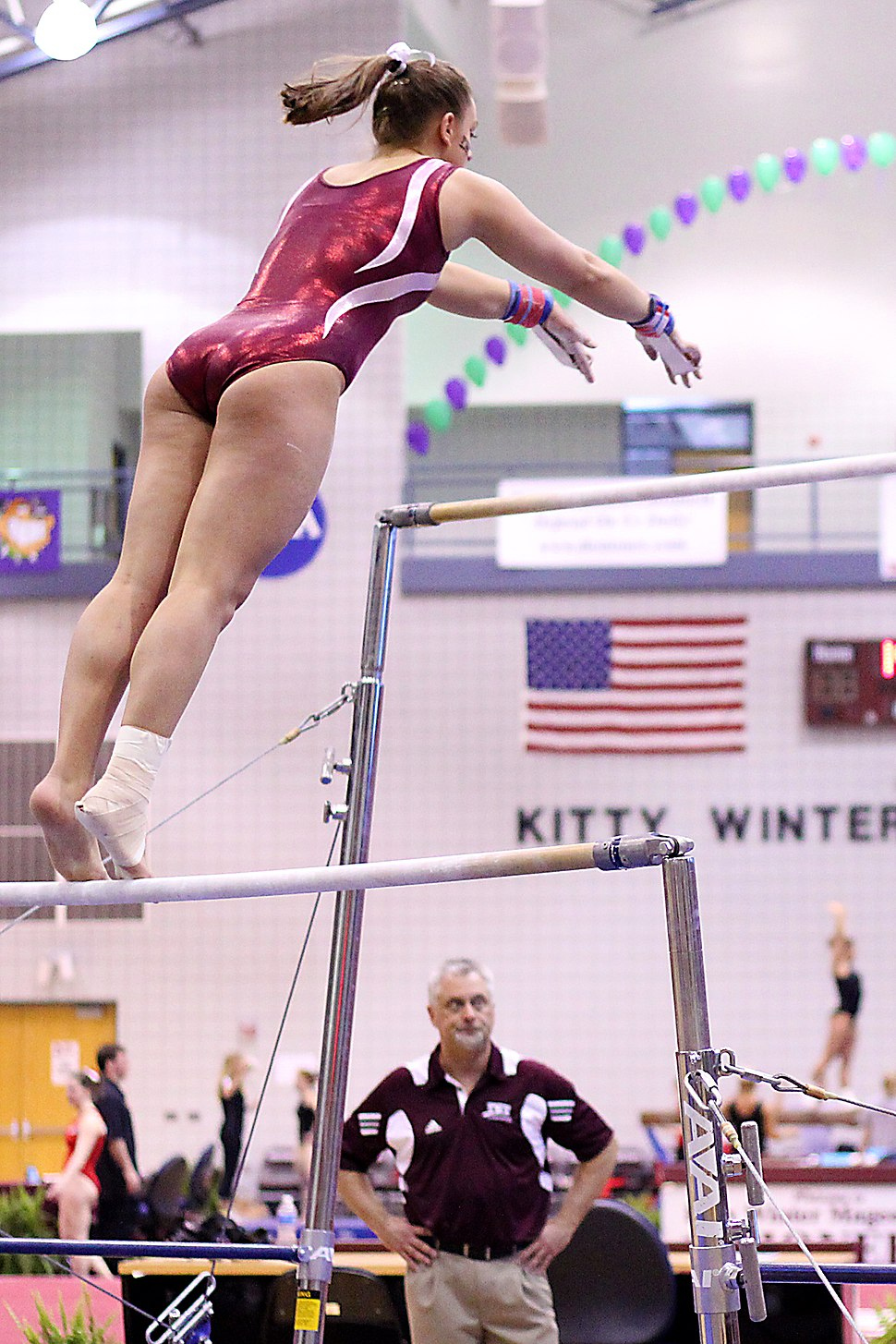 TWU Gymnastics (Bars) Amy Winczura (5694030475)