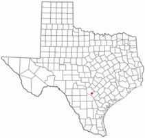 Location of Elmendorf, Texas