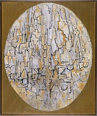Tableau no 3 compositie in ovaal, Piet Mondrian, 1913.jpg
