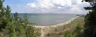 Operation Albion - Panorama of the Tagalaht Bay, Saaremaa, Estonia. This was the location of the German landing on 12 October 1917.
