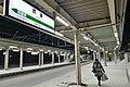 Takanosu Station Platform 2018-2-17.jpg