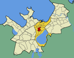 Veerenni within the district of Kesklinn (Midtown).