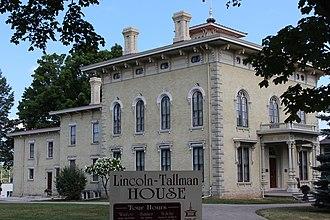 Lincoln–Tallman House - Image: Tallman House 1