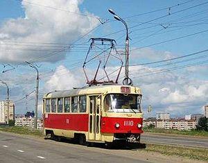 Trams in Izhevsk - Image: Tatra T3SU in Izhevsk