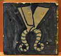 Taulell emblema del gremi de sastres, museu de Ceràmica de València.JPG