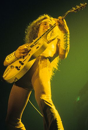 Ted Nugent - In concert with his signature Gibson Byrdland guitar