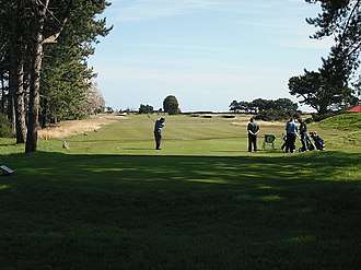 Carnoustie Golf Links - Image: Tee, Carnoustie geograph.org.uk 1658653