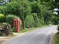 Telephone kiosk and noticeboard, Newbridge - geograph.org.uk - 207677.jpg
