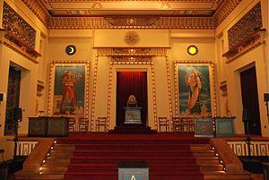 Grand Orient of Belgium - Interior of the Les Amis Philanthropes temple in Brussels