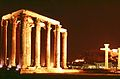 Temple of Olympic Zeus at Night.jpg