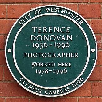 Terence Donovan (photographer) - Plaque outside Terence Donovan's former studios
