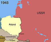 Territorial changes of Poland 1948
