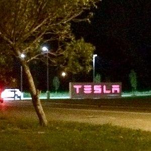 Gigafactory 2 - Sign at factory entrance