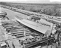 Tewaterlating mijnenveger Lisse (te Westbroek Smits scheepswerf ), Bestanddeelnr 907-7685.jpg