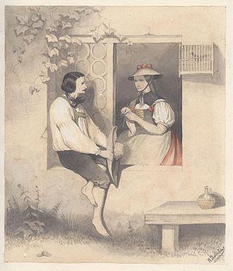 Bollenhut - Théodore Valerio, Couple of Hornberg, 1841