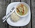 Thai green chicken curry at Highgate Cricket Club, Crouch End, London 2.jpg