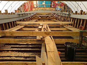 Thalatta (Thames barge) - The Thalatta being rebuilt