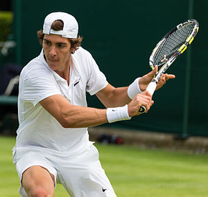 Thanasi Kokkinakis - Kokkinakis playing at Wimbledon in 2015