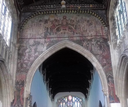 The 15th-century Doom painting in St Thomas' church The 15th century Doom painting in St Thomas' church.jpg