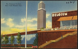 Belgian Building - Image: The Belgium Pavilion, New York Worlds Fair