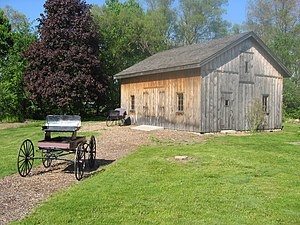 Bell Homestead National Historic Site - The carriage house used by Alexander Graham Bell in his early experiments  (2012).