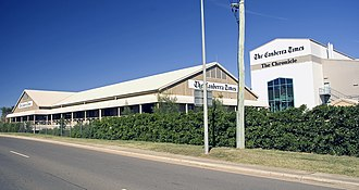 The Canberra Times - The Canberra Times and The Chronicle headquarters at Fyshwick