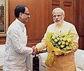 The Chief Minister of Madhya Pradesh, Shri Shivraj Singh Chouhan calling on the Prime Minister, Shri Narendra Modi, in New Delhi on June 04, 2015.jpg