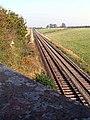 The Cumbrian Coast Line as it runs across the Soilway Plain east of Aspatria - geograph.org.uk - 66155.jpg