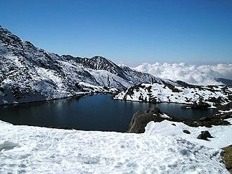 Gosaikunda - Image: The Frozen Lake